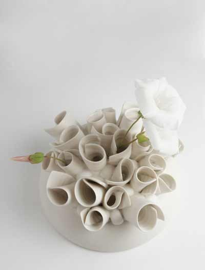 Porcelain Zsa Zsa Vase by Jo Davies;  on sale from FCA&C's shop @ £320