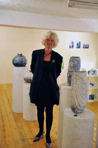 Moyra Stewart ceramics at Pittenweem Arts Festival 2013